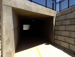 Bike Tunnel - Stone Retaining Wall