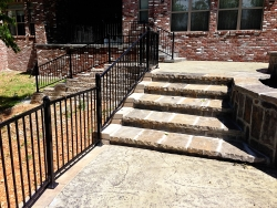 Fencing and Stone Stairway