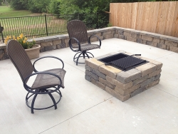 Hardscape Patio with Firepit and Fencing