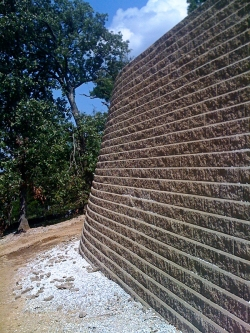 Large Retaining Wall and Path