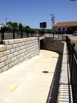 NWA Stone Retaining Wall - Tunnel