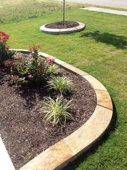 Natural Stone Flower Bed