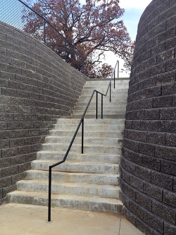 Stone Stairwell and Retaining Wall
