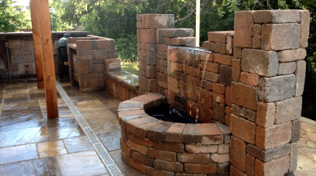 Pavers on Outdoor Fireplace