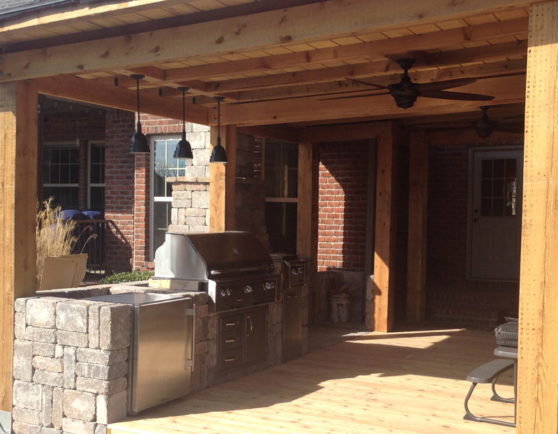 Outdoor Kitchen that is covered