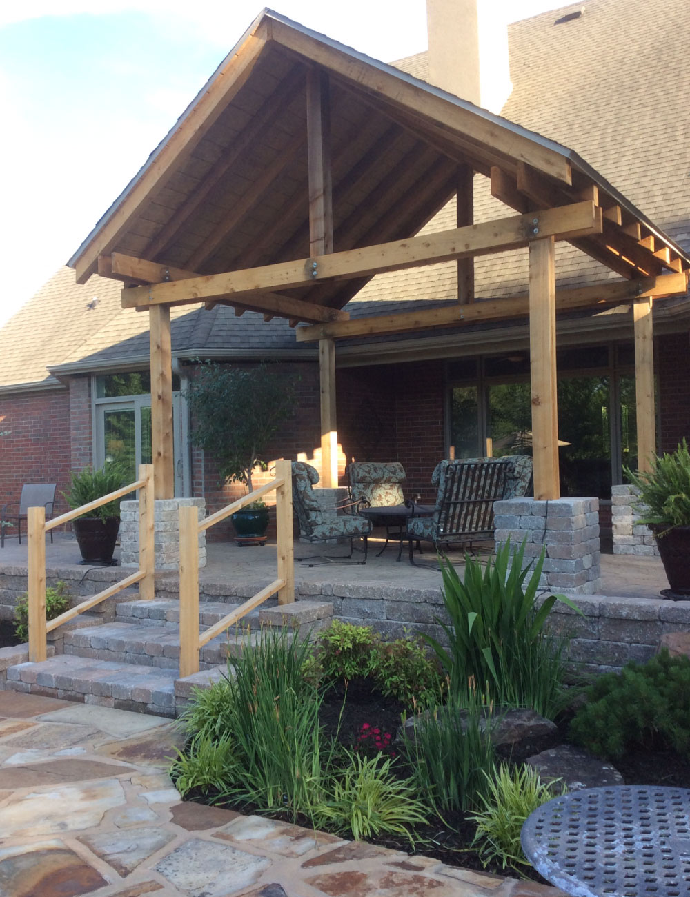 Natural Stone Patio Landscape