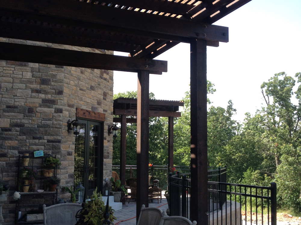 double pergolas for outdoor living